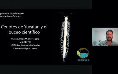 Cenotes de Yucatán y el Buceo Científico – M. en C. Efraín Chávez